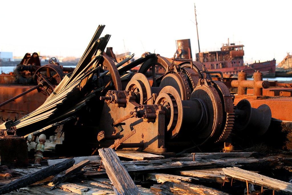 Rusty Machinery in the Staten Island Boat Graveyard