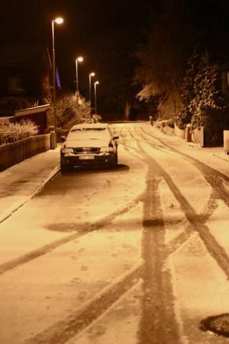 Snöig vågmästarväg