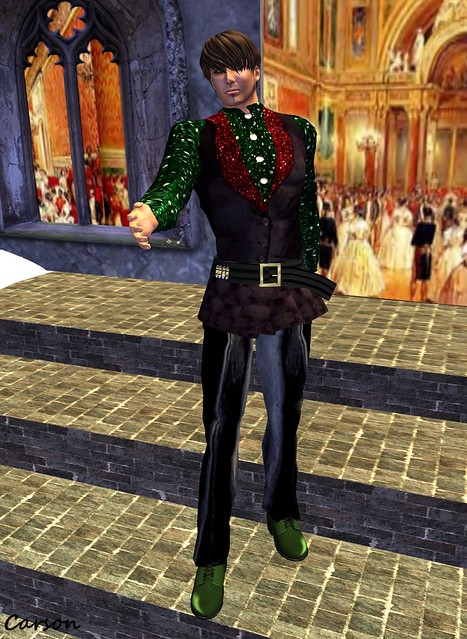 PeKaS - Christmas Outfit, Duh! - Green Leather Dress Shoes