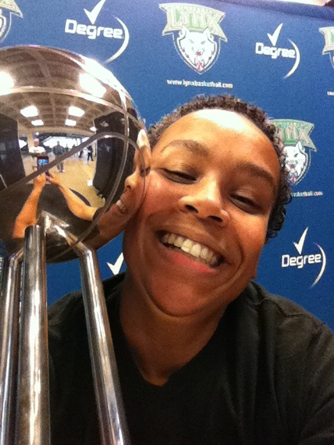 me and the WNBA Championship trophy
