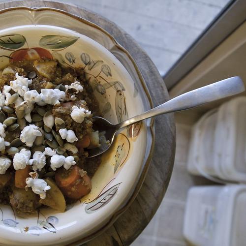 Tamarind-Aji Beef Stew with Potatoes, Quinoa and Carrots
