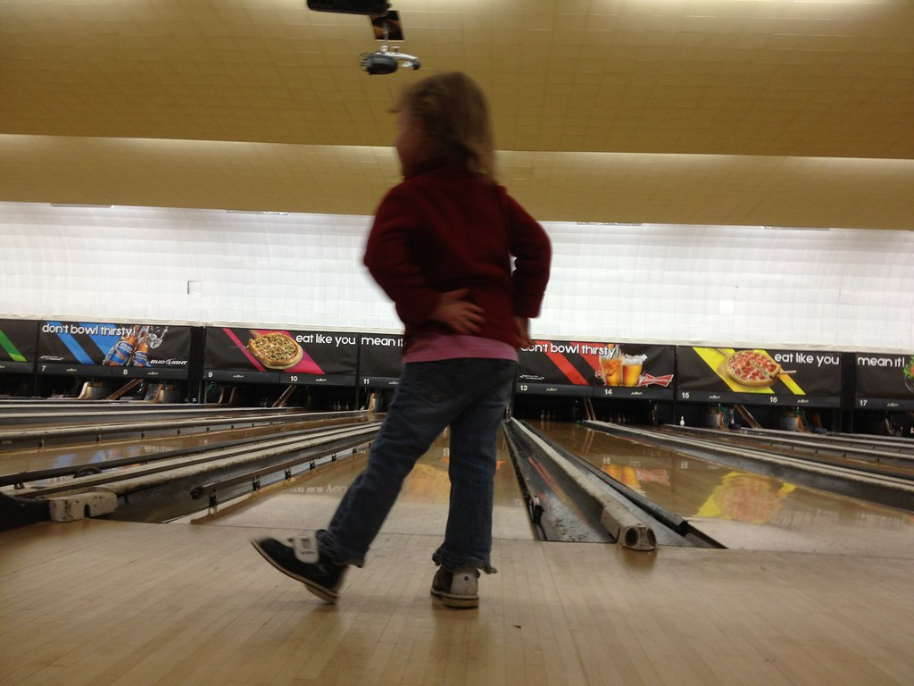 Dancing a jig at the alley