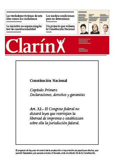 Tapa Clarín 20-12-2011