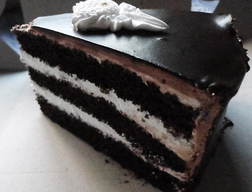 Chocolate et vanilla cake