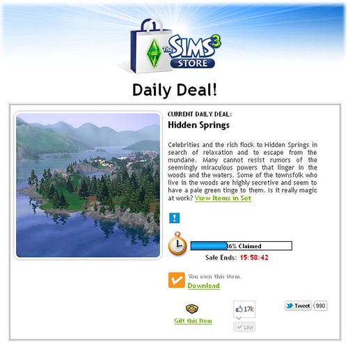 Hidden Springs is Today's Daily Deal!