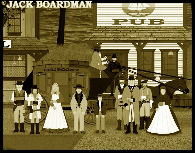 Missus Miller and orphans ready to board the stagecoach ©2012 Jack Boardman