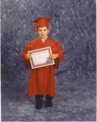 Aaron graduating preschool to Kindergarten