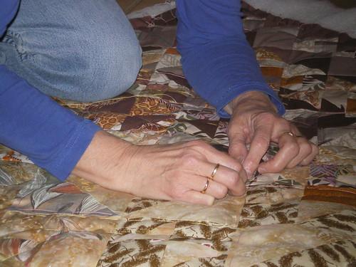 Préparation Quilting ouvrage patchwork