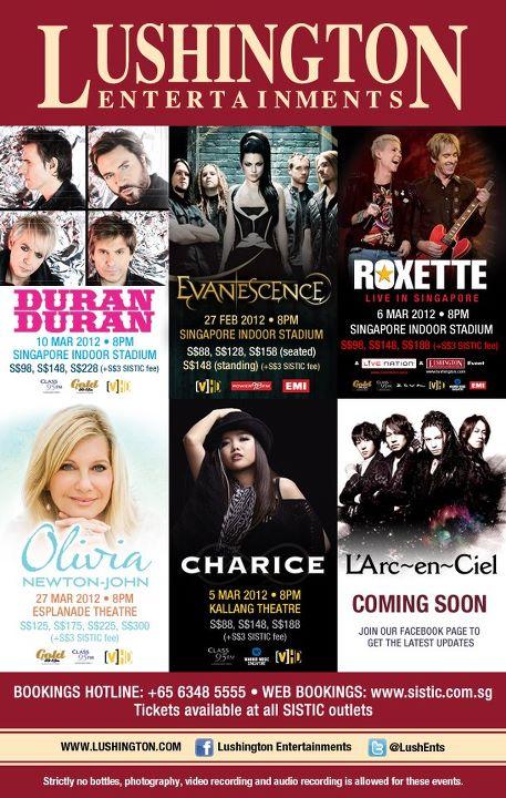 Additional Singapore Date Planned for L'~Arc~en~Ciel World Tour 2012