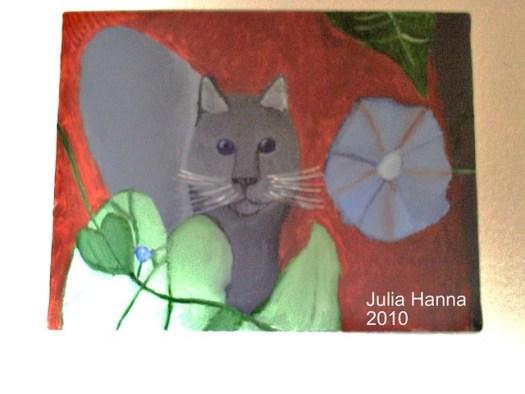 Gray Kitten Painting
