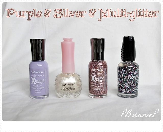Simple Glitter Gradation Nails