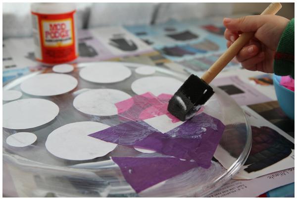 DIY Photo Memory Decoupage Platter