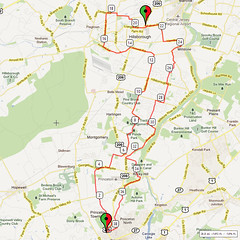 02. Bike Route Map. Princeton NJ