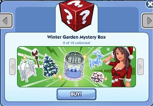 Sims Social Winter Garden Mystery Box!