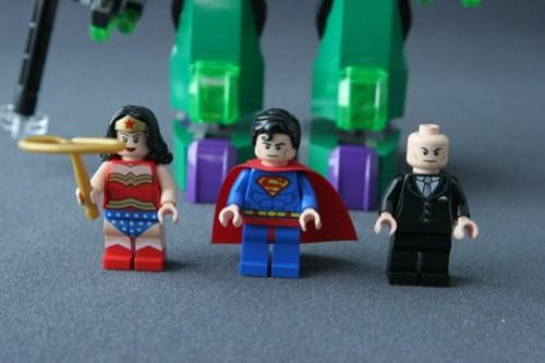 6862 Superman vs Power Armor Lex - Minifigs