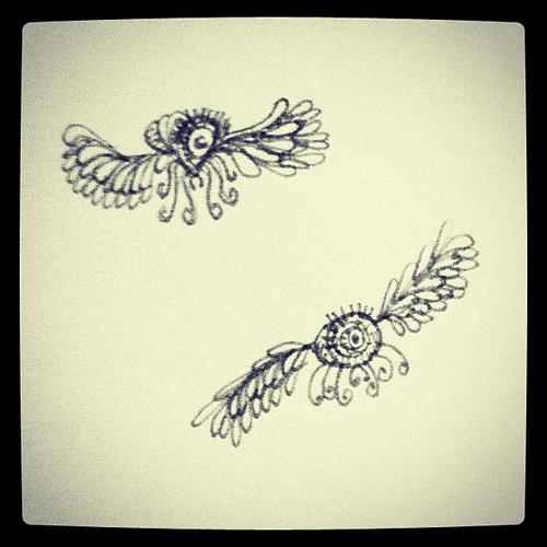 Flying doodles.