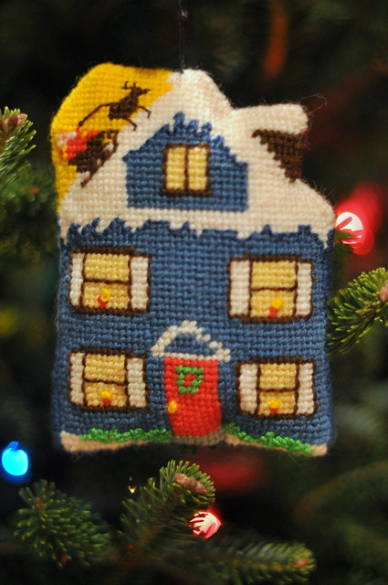house ornament front