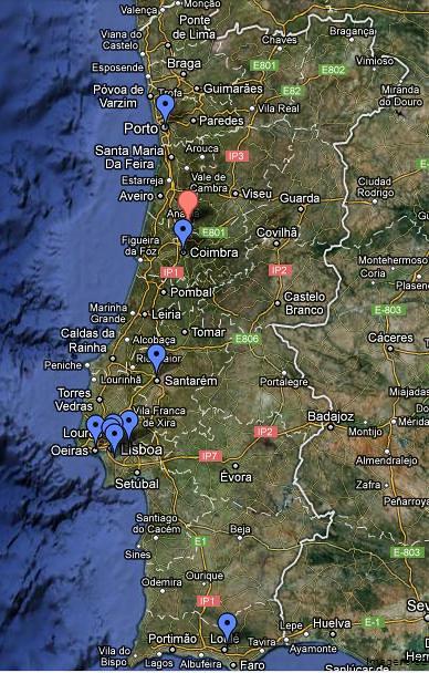 Mapa encontros