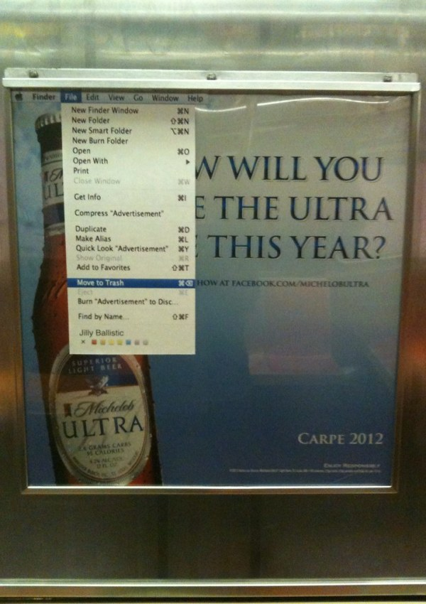 """How will you live the ultra life this year?"" File>Move Ad to Trash"