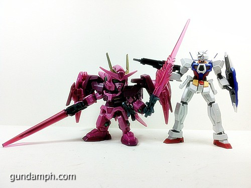 SD Gundam Online Capsule Fighter Trans Am 00 Raiser Rare Color Version Toy Figure Unboxing Review (47)