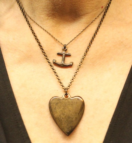 brass heart & anchor by denise carbonell