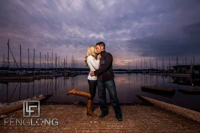 Sunset Light | Leslie & Phil's Engagement Session | Sunrise Cove Marina | Lake Lanier Wedding Photographer