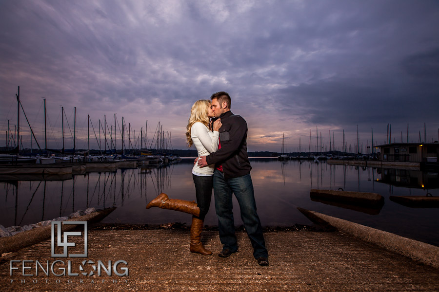 Sunset Light | Leslie & Phil's Engagement Session | Sunrise Cove Marina | Lake Lanier Wedding Photographer