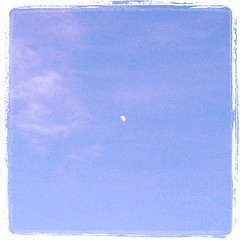 夕方に見たお月様