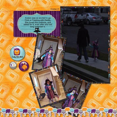 2009 Scrapbook - Halloween Pg 2