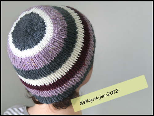 violet stripes hat