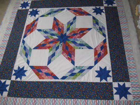 Bed Quilt, ready for basting
