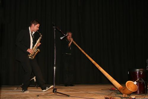 Edgar Unterkirchner (Sax) und Peter Gröning (Alphorn)