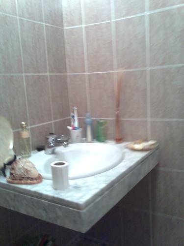 Baño antiguo, encimera