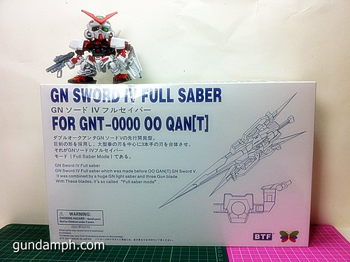 GN Sword 4 IV Full Saber QuanT 1-100 BTF Coversion Kit Unboxing (1)