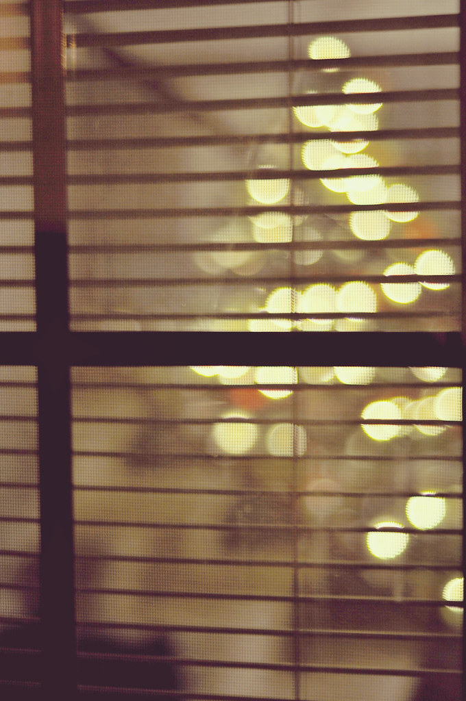 Window Christmas Bokeh