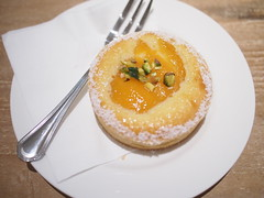 Apricot frangipane tart, Baker & Cook, Hillview Avenue, Greenwood
