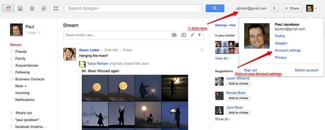 Google+ Account Settings