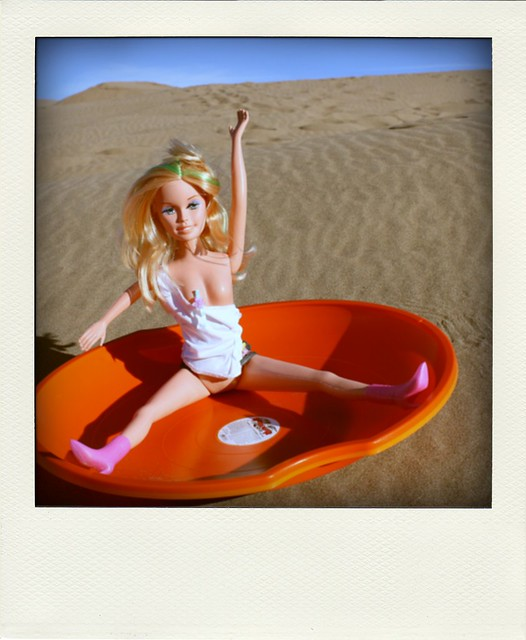 Barbie on the dunes