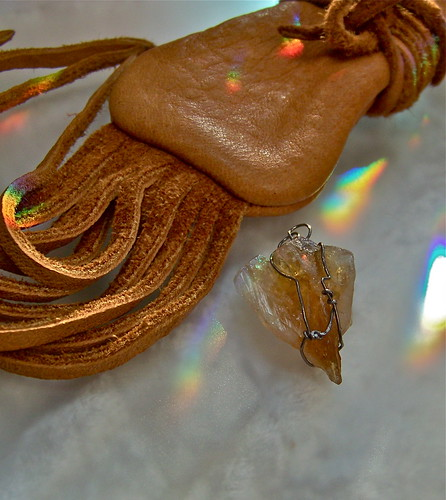 Medicine Bag & Citrine Point by WETCLOUD