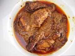 Chicken rendang with unfortunate oil slick