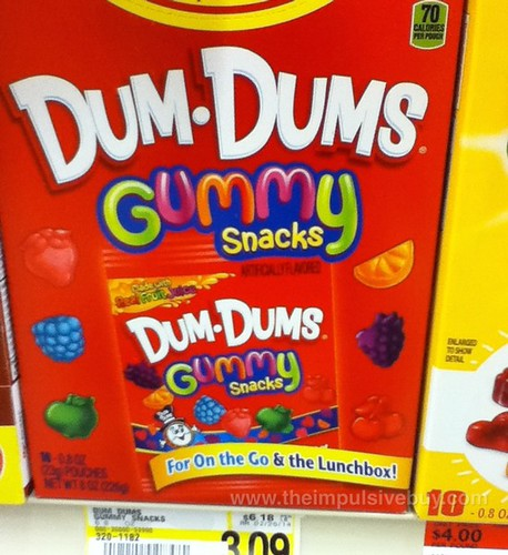 Dum-Dums Gummy Snacks