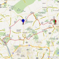 13. Bike Route Map. Princeton NJ