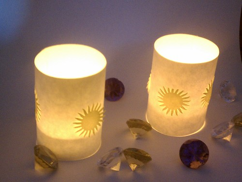 Tiny tea light shades by ashleyludwig