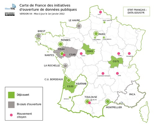 Carte France Open Data V4 by Libertic