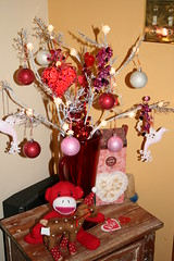 Valentine's Day lighted branch display