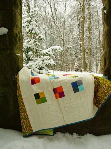 snowy quilt scene