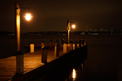 Night Pier by Terry Schmidbauer