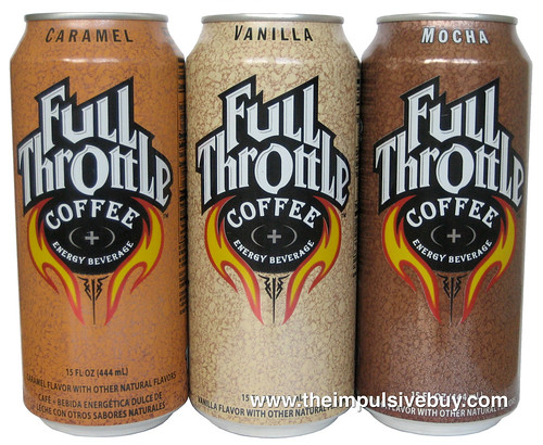Full Throttle Coffee Energy Drink (Mocha, Vanilla, Caramel)
