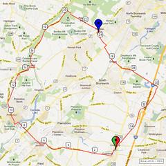 11. Bike Route Map. Cranbury NJ