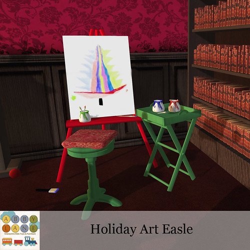 Abby Lane - Holiday Art Easle Ad